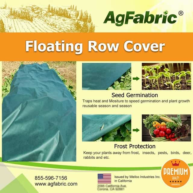 Agfabric Warm Worth Heavy Floating Row Cover and Plant Blanket