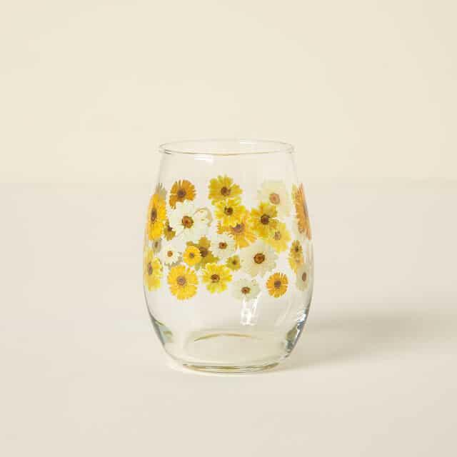 April Birth Month Flower Glass