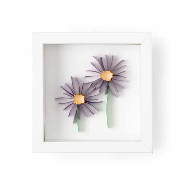 Aster - Birth Month Flower 3D Art