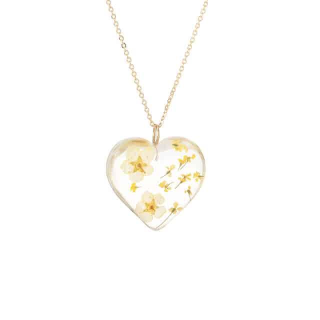 August Birth Month Flower Poppy Necklace