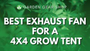 Best Exhaust Fan for a 4x4 Grow Tent