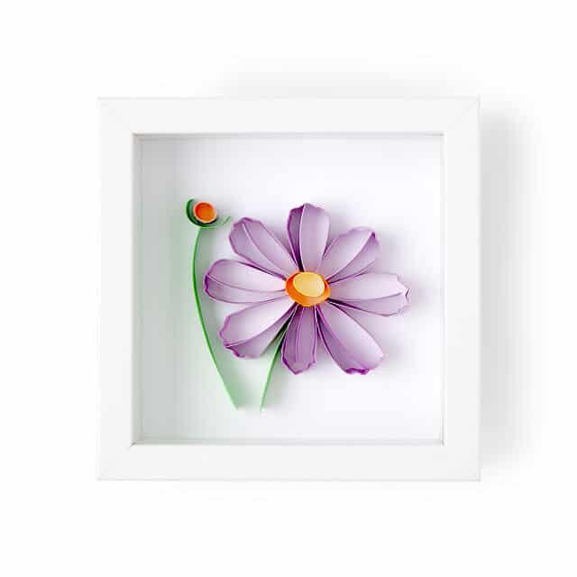 Cosmos - October Birth Month Flower 3D Art