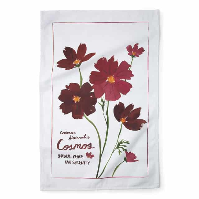 Cosmos -  October Birth Month Flower Tea Towels