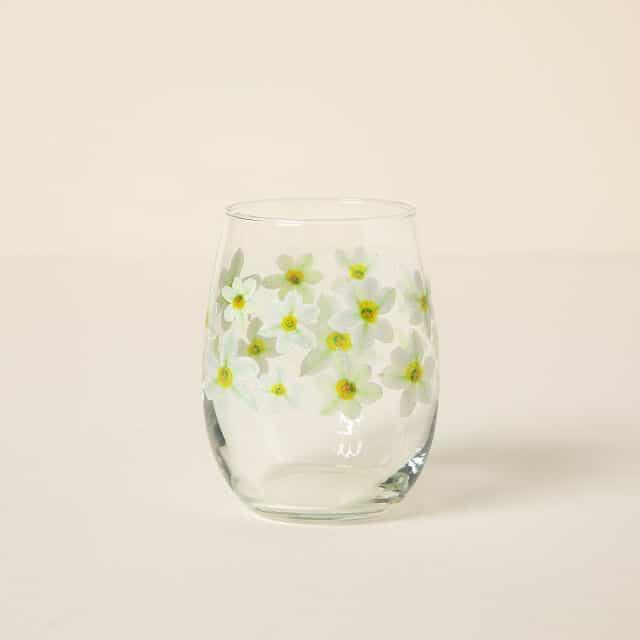 December Birth Month Flower Glass