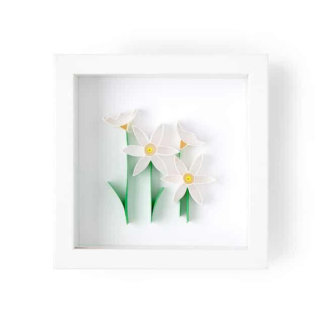 December Birth Month Flower Narcissus 3D Art