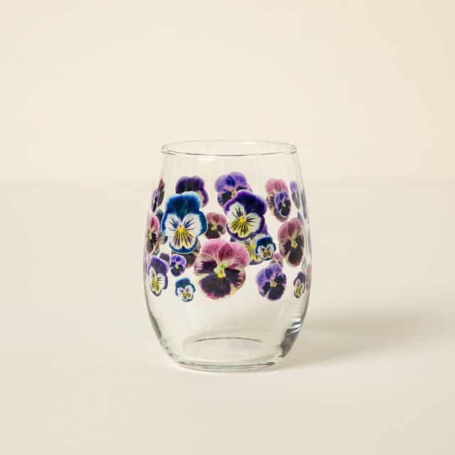 February Birth Month Flower Glass