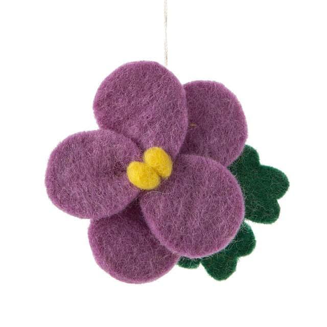 February Birth Month Flower Ornament
