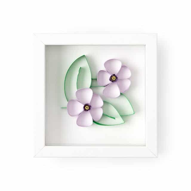 February Birth Month Flower Violet Pansy 3D Art
