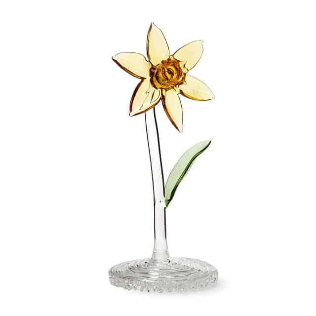 Glass Daffodil March Birth Month Flower
