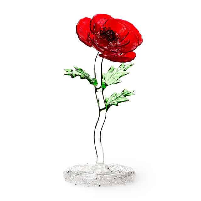 Glass Poppy August Birth Month Flower