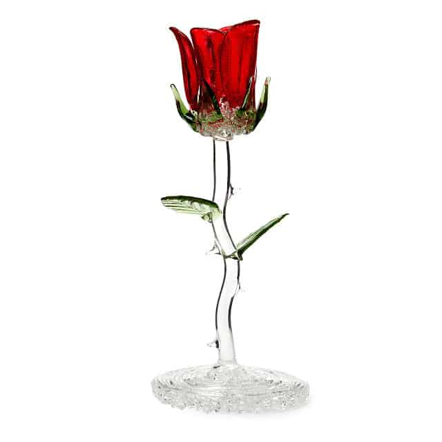Glass Rose June Birth Month Flower