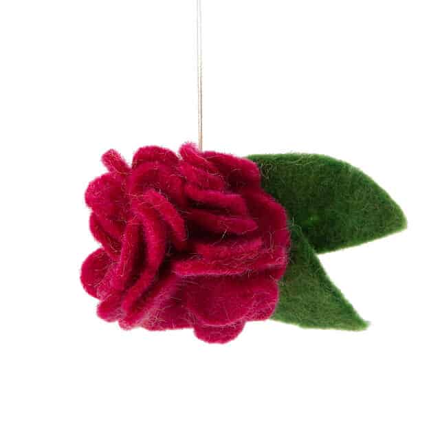 January Birth Month Flower Ornament
