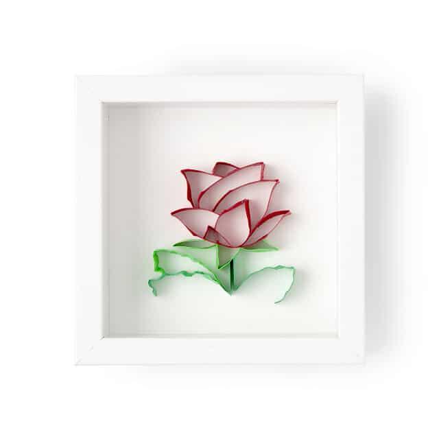 June Birth Month Flower Rose 3D Art