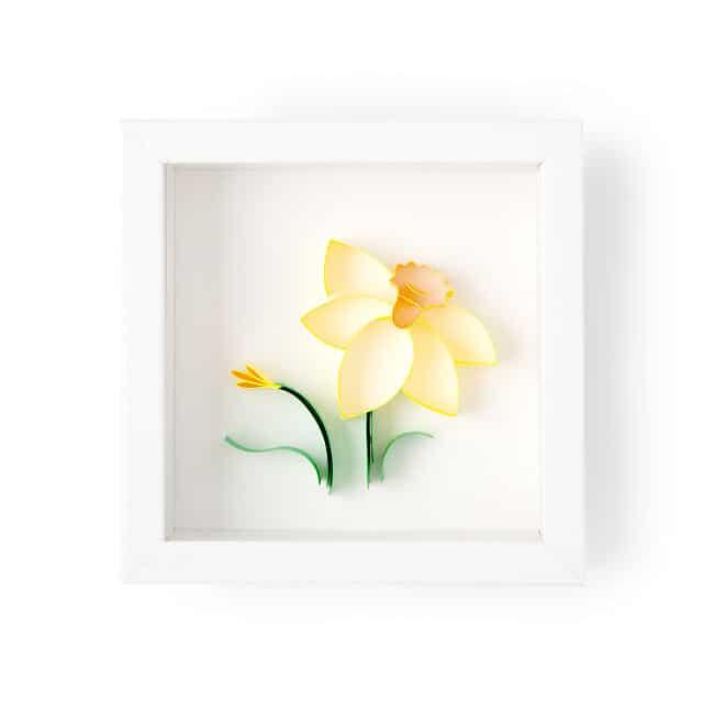 March Birth Month Flower Daffodil 3D Art