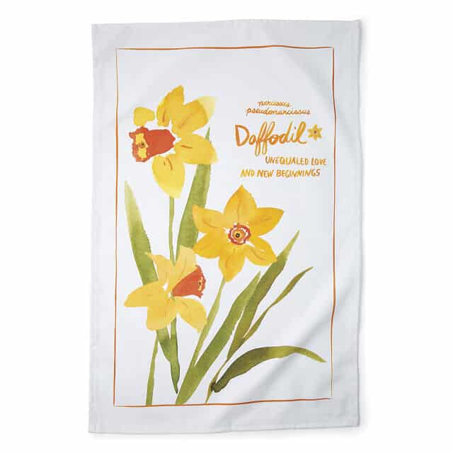 March Birth Month Flower Tea Towels