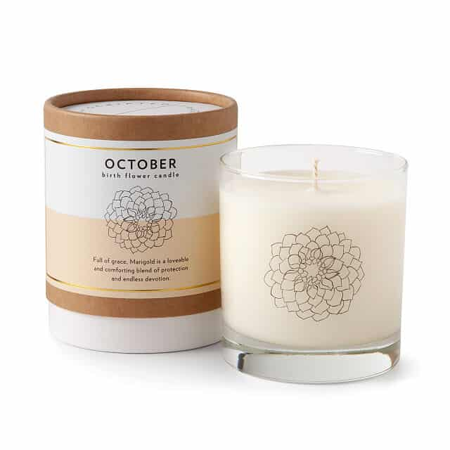 Marigold - October Birth Month Flower Candles