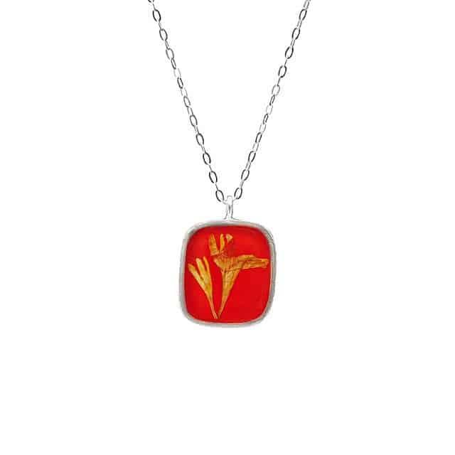 Marigold -  October  Birth Month Flower Necklace