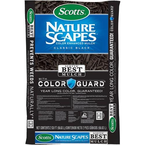 Scotts Nature Scapes Color Enhanced Mulch Classic Black, 2 cu. ft. Bag