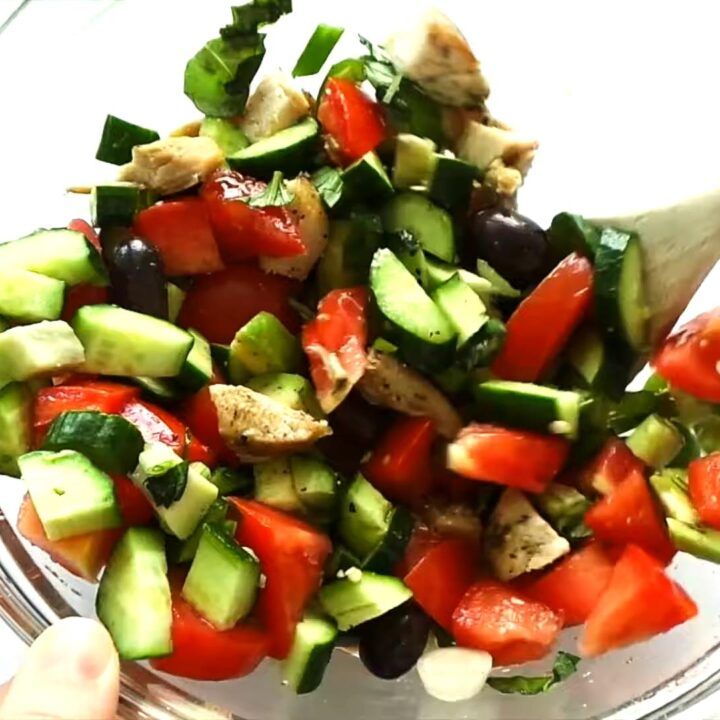 Tomato Avocado Chicken Salad For Summer Low Carb & Paleo Salad