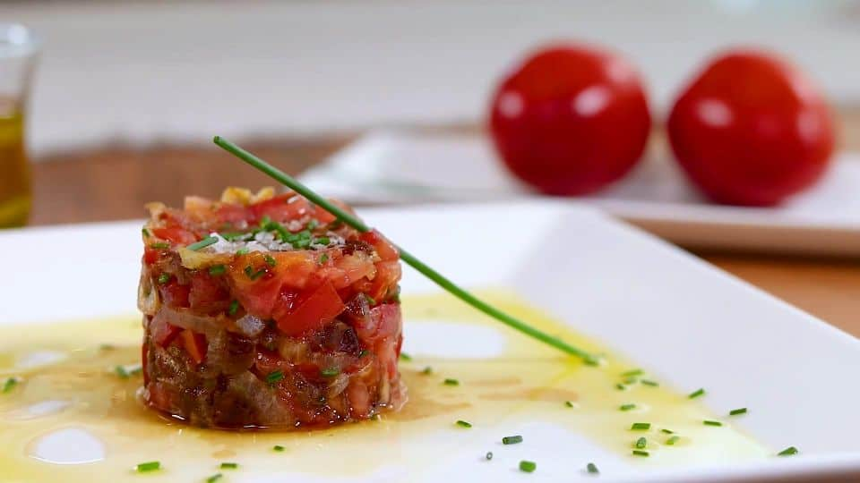 Tomato Tartar Recipe - Garnish